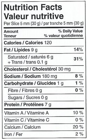le-guillaume-tell-valeur-nutritive